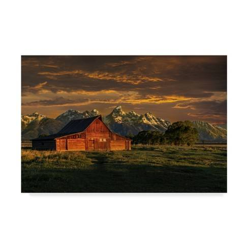"Trademark Fine Art 32"" x 22"" Galloimages Online 'Moulton Barn Sunrise' Canvas Art"