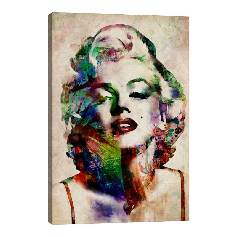 Watercolor Marilyn Monroe by Michael Tompsett Gicl�e Print Canvas Art