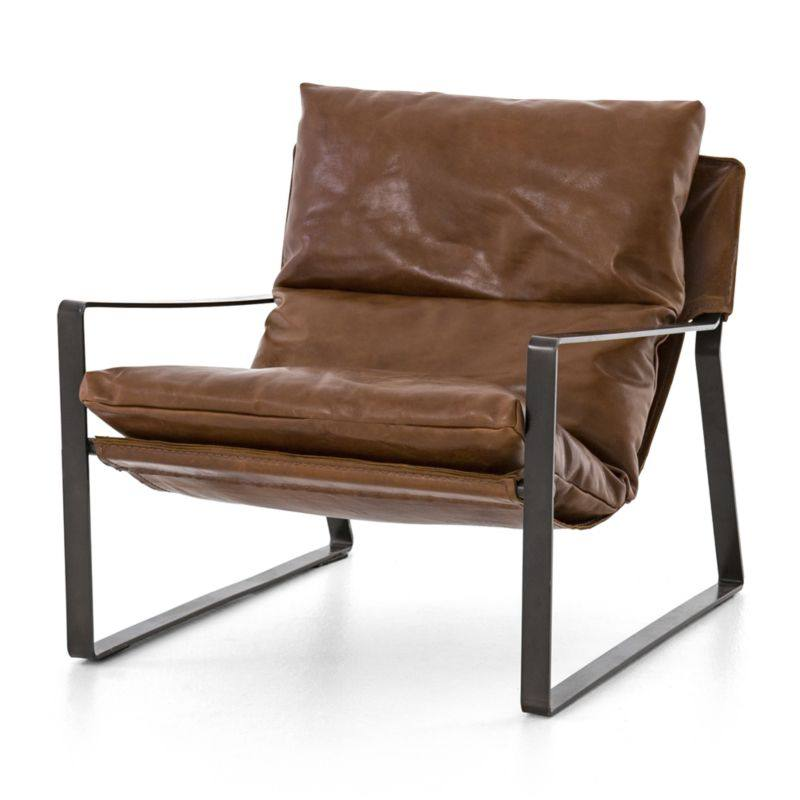 Emmett Leather Sling Chair