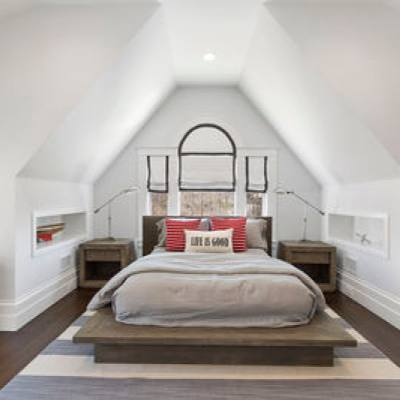Minimalist bedroom cottage style