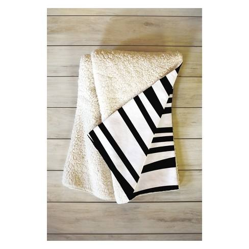 Khristian A Howell Crew Stripe Cool Throw Blanket Black - Deny Designs
