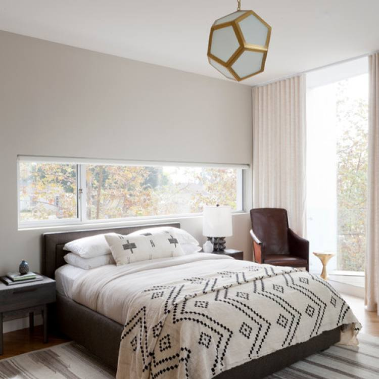 Glamour gold and grey master bedroom
