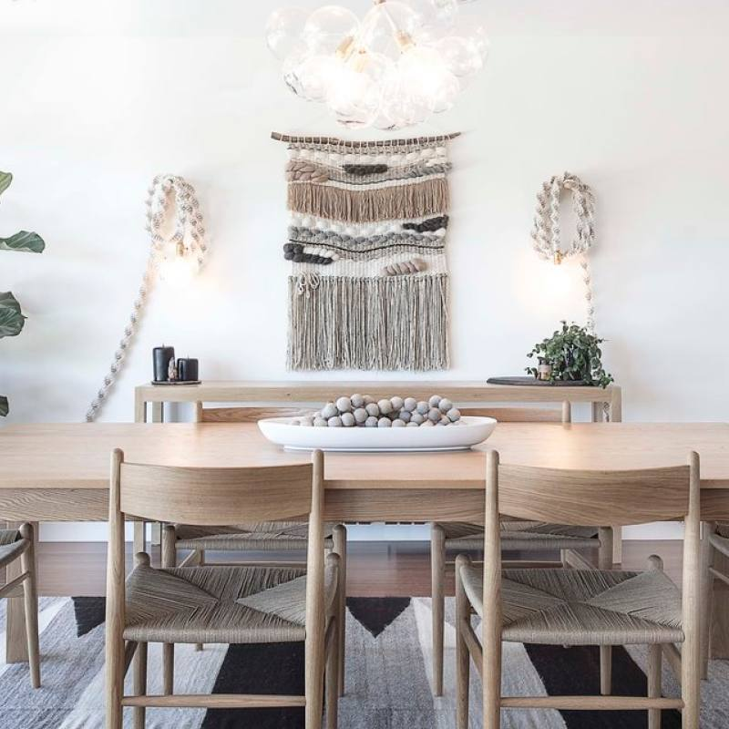 Get the look: Modern bohemian dining room