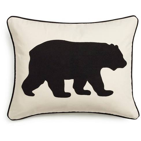 "Bear Throw Pillow Black (16""x20"") - Eddie Bauer�"