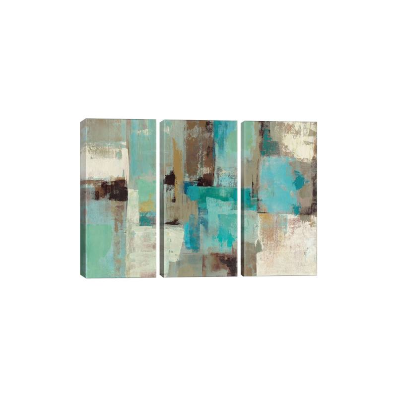 Teal & Aqua Reflections 2 by Silvia Vassileva Gicl�e Print Canvas Art