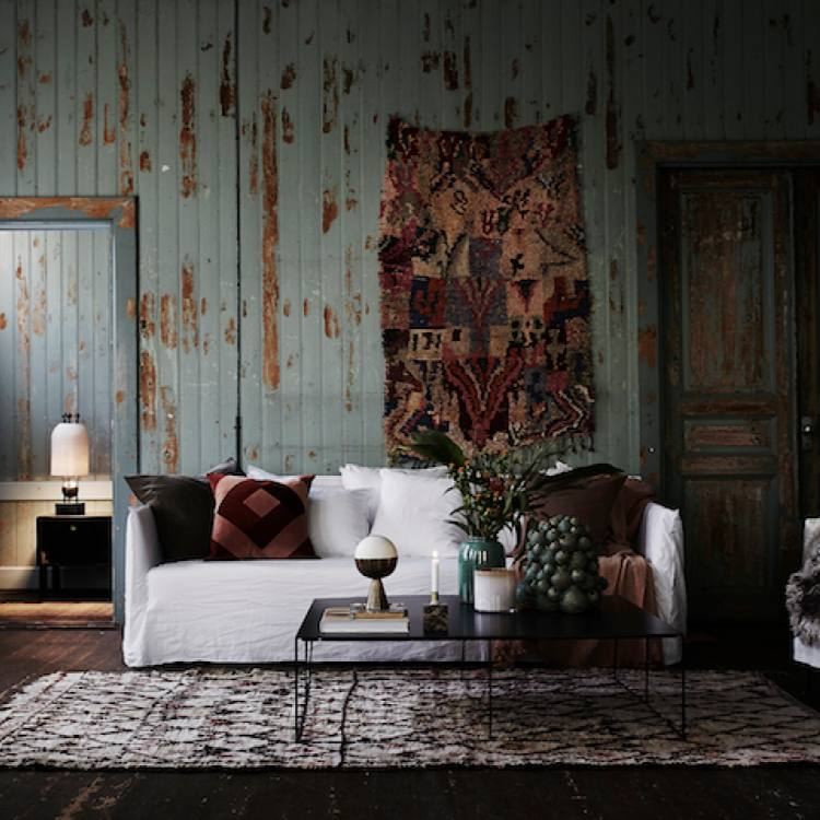 Boho hich modern farmhouse Living Room