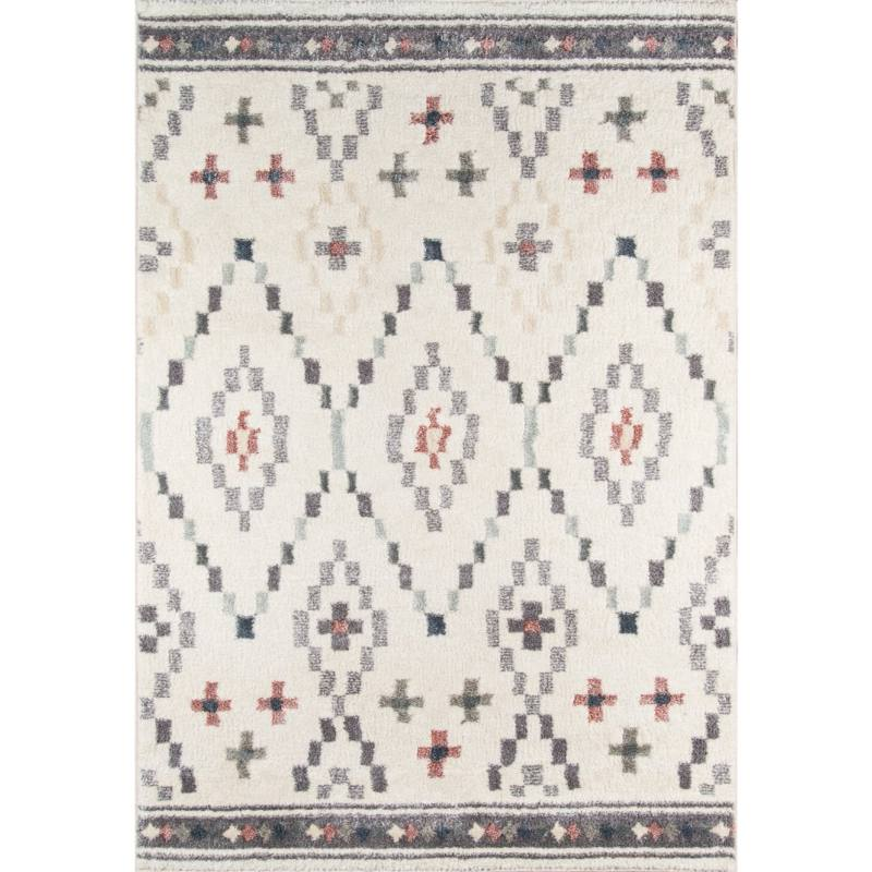 Anjali Rug, Cream and Gray