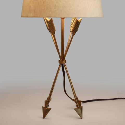 Antique Brass Arrow Accent Lamp Base