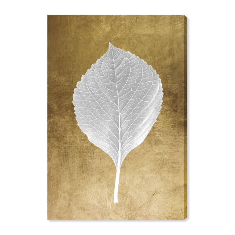 Leaf in Gold I Canvas Wall Art