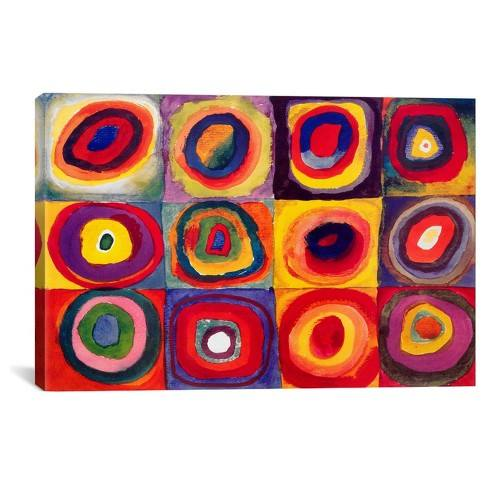 Squares with Concentric Circles by Wassily Kandinsky Canvas Print