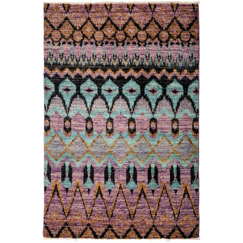 "Shadi One of a Kind Rug 4'1"" x 6'2"", Purple"