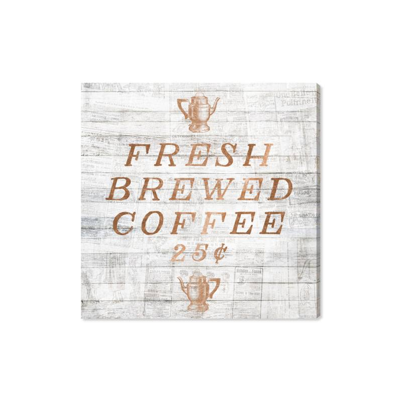 Fresh Brewed Coffee Canvas Wall Art