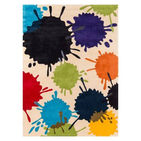 Lil Mo Hipster Splatter Tufted Accent Rug - Momeni