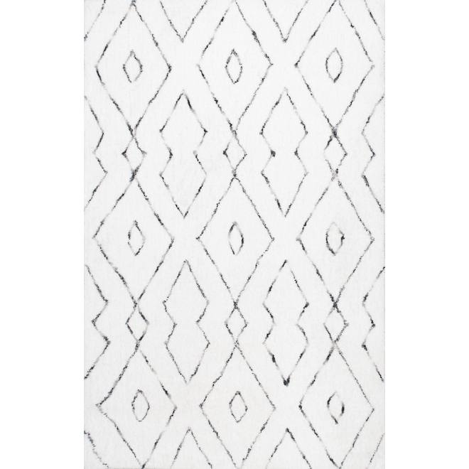 Rugs USA Snowpeak Double Diamond Lattice Shag RUG