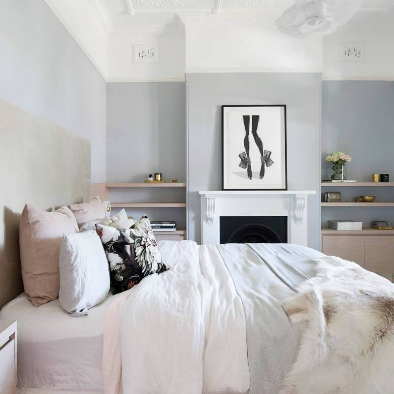 Romantic neutral modern bedroom