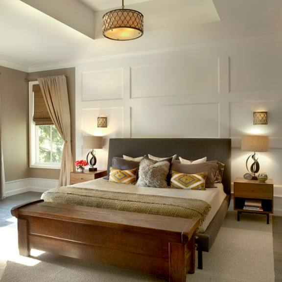 Classic traditional master bedroom by Charles Vincent George