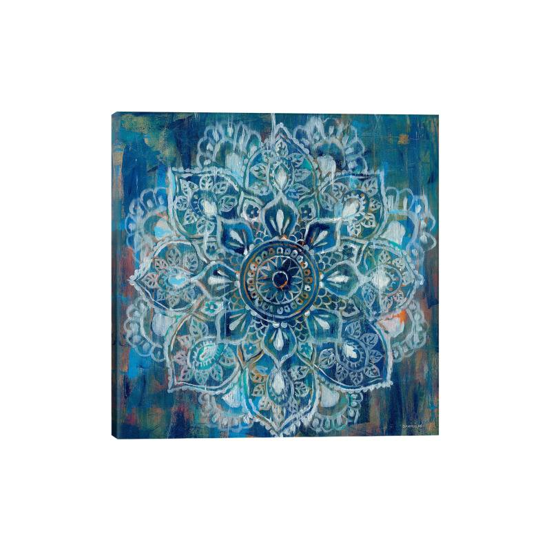 Mandala in Blue II by Danhui Nai Gicl�e Print Canvas Art