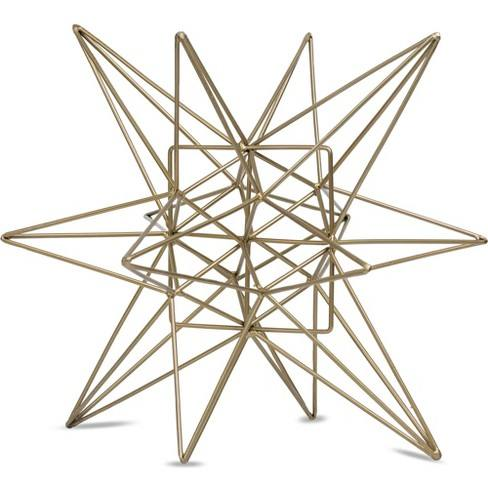 "Star Figurine Metal Tabletop D�cor In Steel Finish - Gold (7.28""x8.27""x7.48"")"