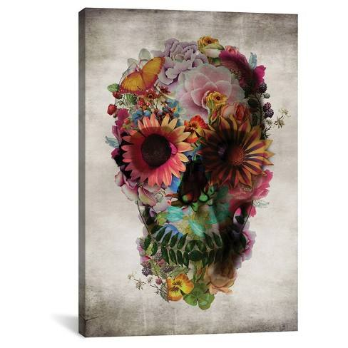 Skull 2 by Ali Gulec Canvas Print