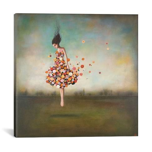 "26""x26"" Boundlessness in Bloom by Duy Huynh Unframed Wall Canvas Print Blue - iCanvas"
