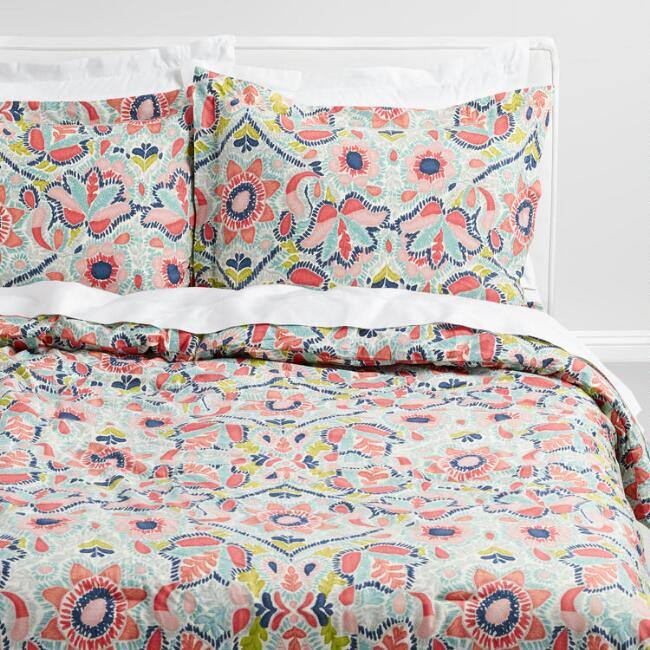Multicolored Floral Margherita Bedding Set