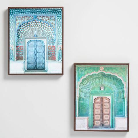 Doors of India by Hakat Wall Art Set of 2