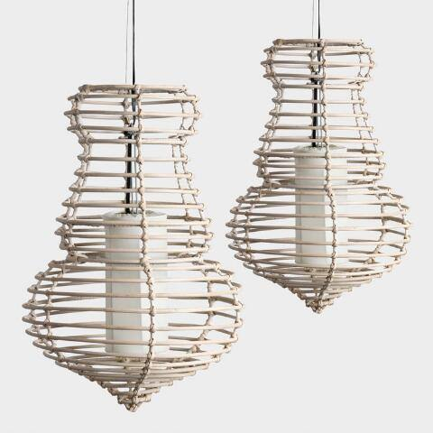 Hand Twisted Rattan Sienna Pendant Lamp