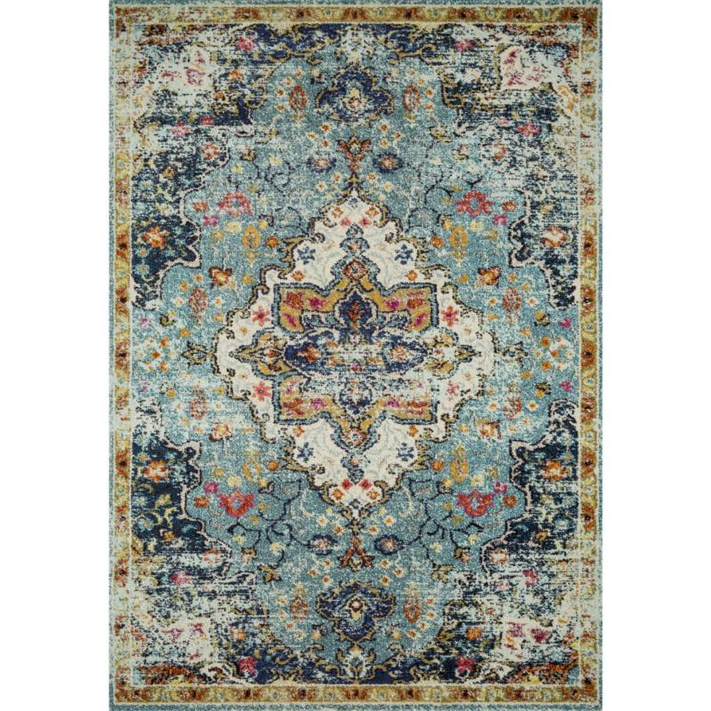 Ammaliya Rug, Blue and Midnight