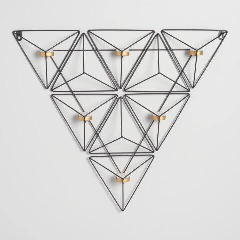 Black Metal Triangle Sconce
