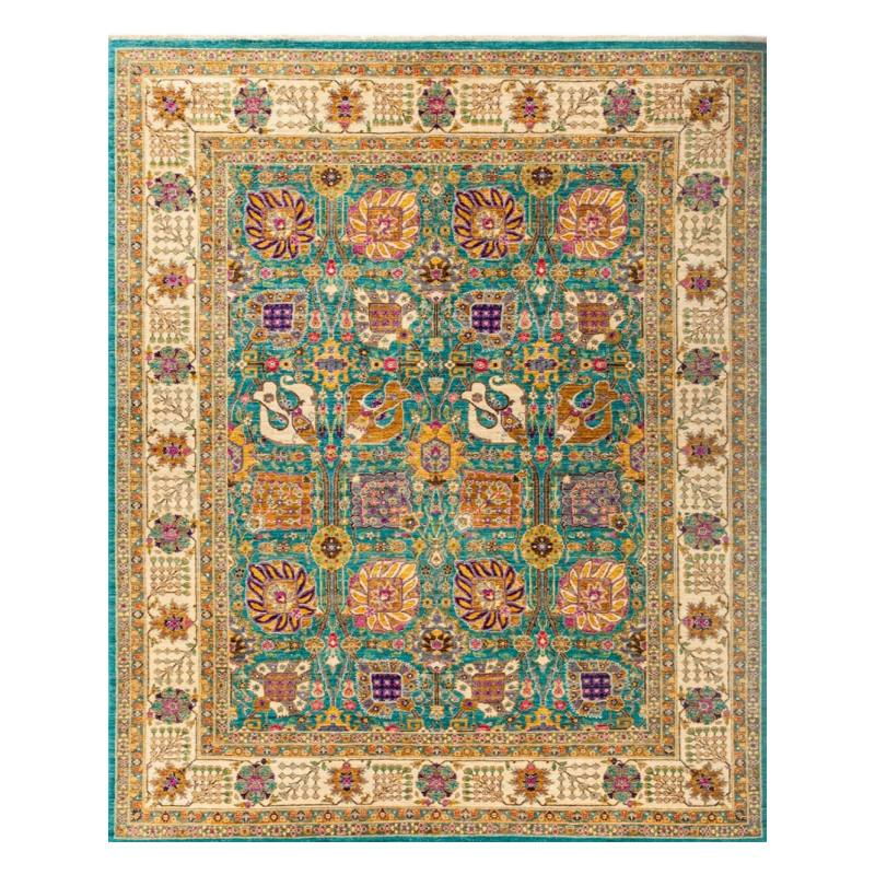 "Damica One of a kind Rug 8'1"" x 9'10"", Blue"