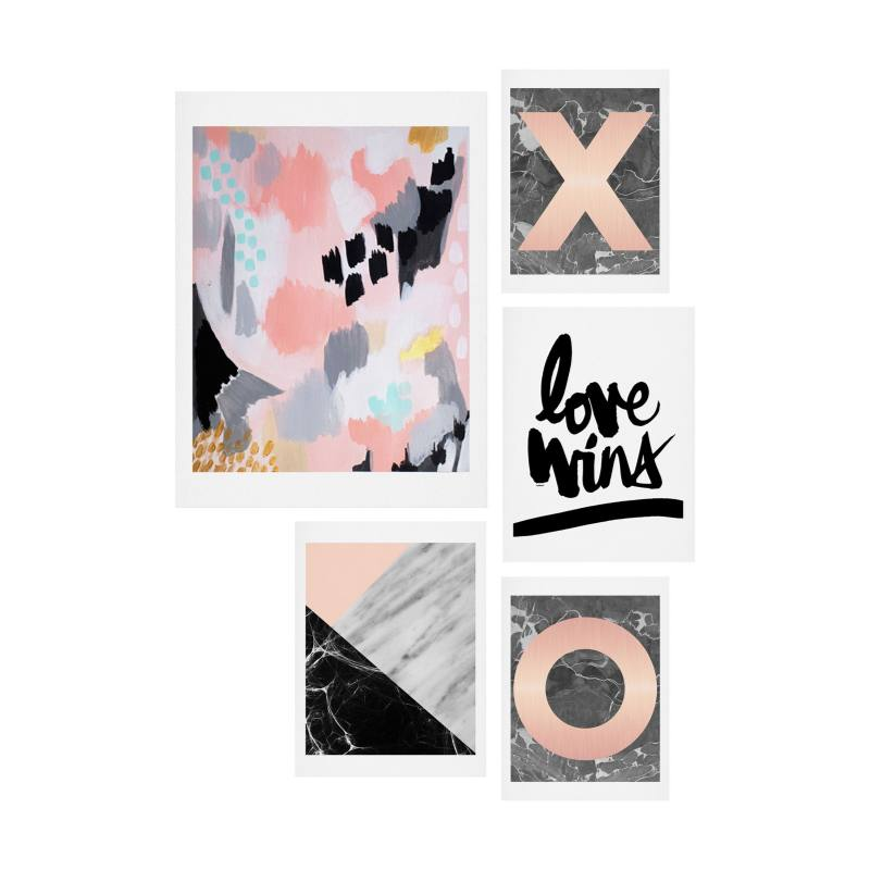 Marble Love Five-Piece Gallery Wall Art Print Set
