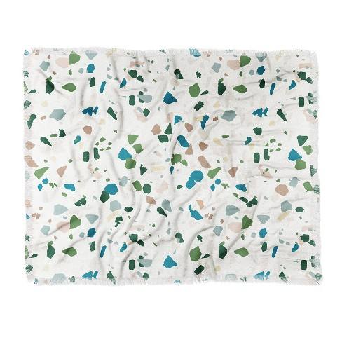 Holli Zollinger Terrazzo Woven Throw Blanket Green - Deny Designs