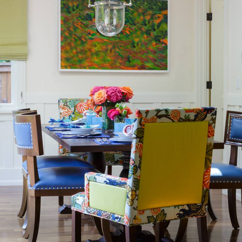 Eclectic ann lowengart dining room