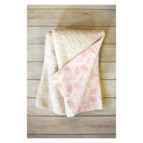 Little Arrow Design Co Throw Blanket Pink - Deny Designs