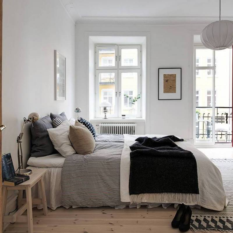 Simple apartment bedroom neutral decor ideas