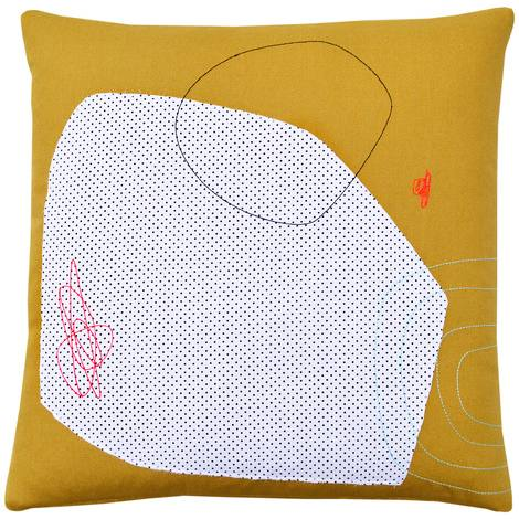 Cloudy Day Abstract Pillow