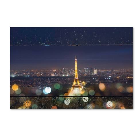 Trademark Global Mathieu Rivrin 'Fireworks of Rain in Paris' Unframed Wall Canvas Art