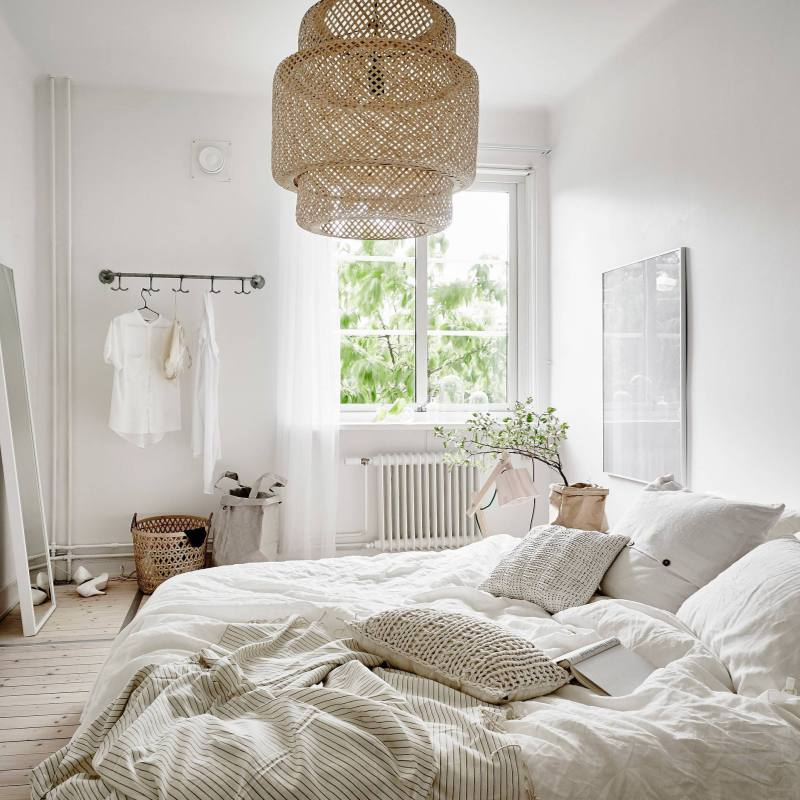 Cozy Romantic Boho Chic Scandinavian Bedroom