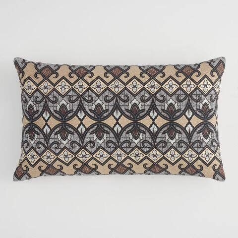 Oversized Cool Bali Tribal Print Lumbar Pillow