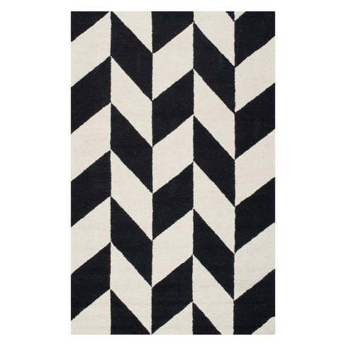 Hand Tufted Katte Area Rug Black - nuLOOM
