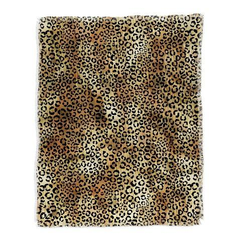 Schatzi Brown Leopard Tan Throw Blanket Brown - Deny Designs