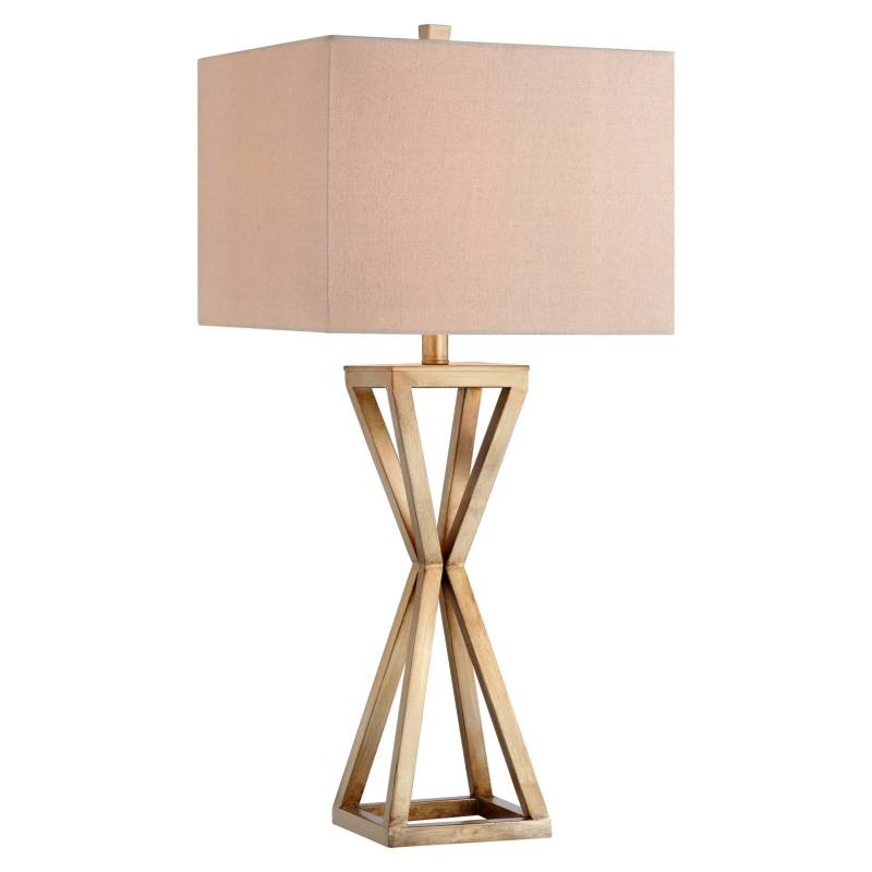 Open Caged Metal Table Lamp