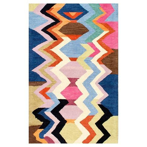Hand Tufted Aguirre Multi-colored Rug - nuLOOM