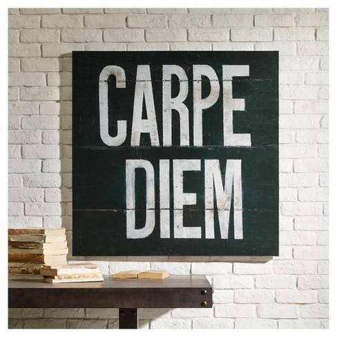 Carpe Diem Printed Canvas with Gel Coat