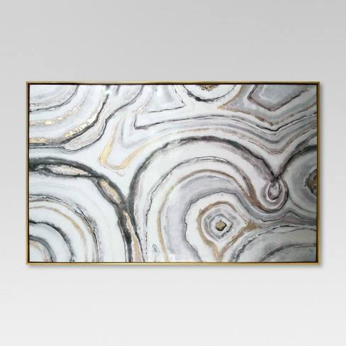"Geode Framed High Gloss Canvas 40""x25"" - Project 62�"
