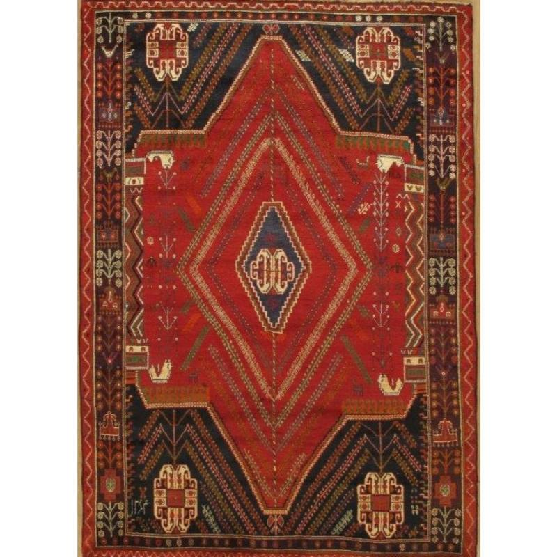 "Asya One of a Kind Rug 6'7"" x 9'3"", Red"