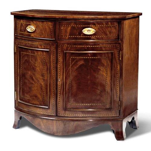 Bowfront 2 Door Accent Cabinet