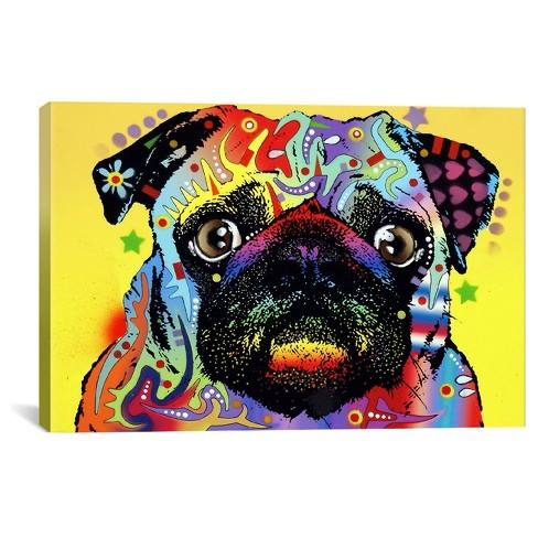 Pug by Dean Russo Canvas Print