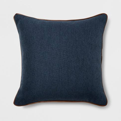 Leather Piping Square Throw Pillow - Threshold�