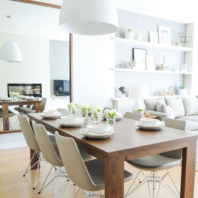 Modern minimalist dining room decor by shift